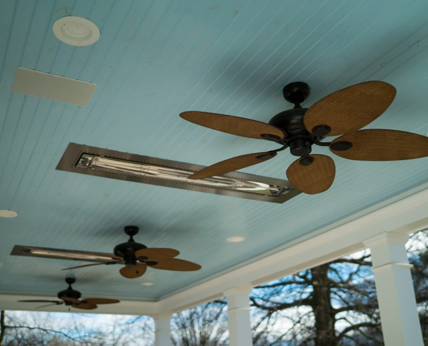 Ceiling Fans In Custom Sunroom Home Additions