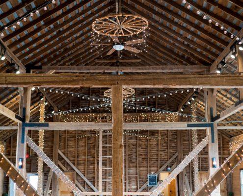 Custom Lighting in Barn