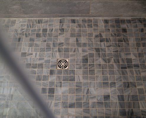 Bathroom Remodel With Custom Tile Floor