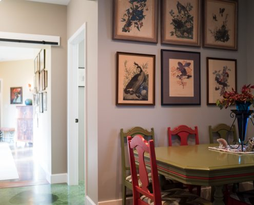 A Beautiful Dining Room In A Home Remodeling Project