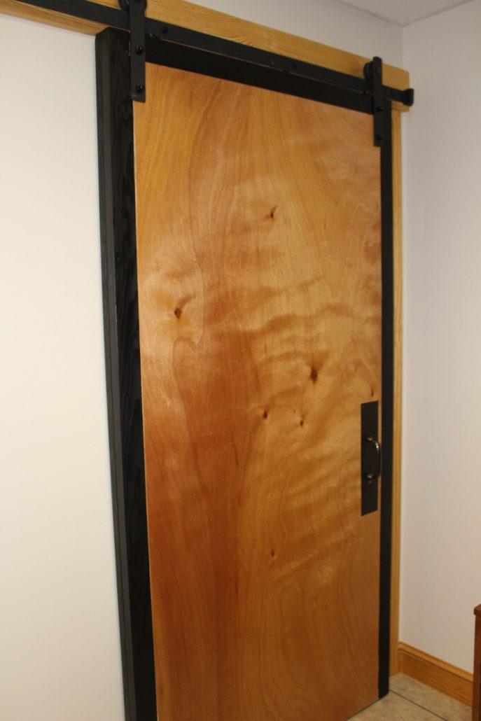 Custom Bathroom Barn Door, Shower Stair, and Closet Cabinet ...