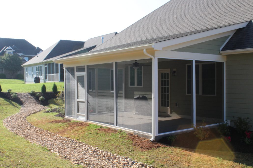 how to build a screened in porch on concrete slab
