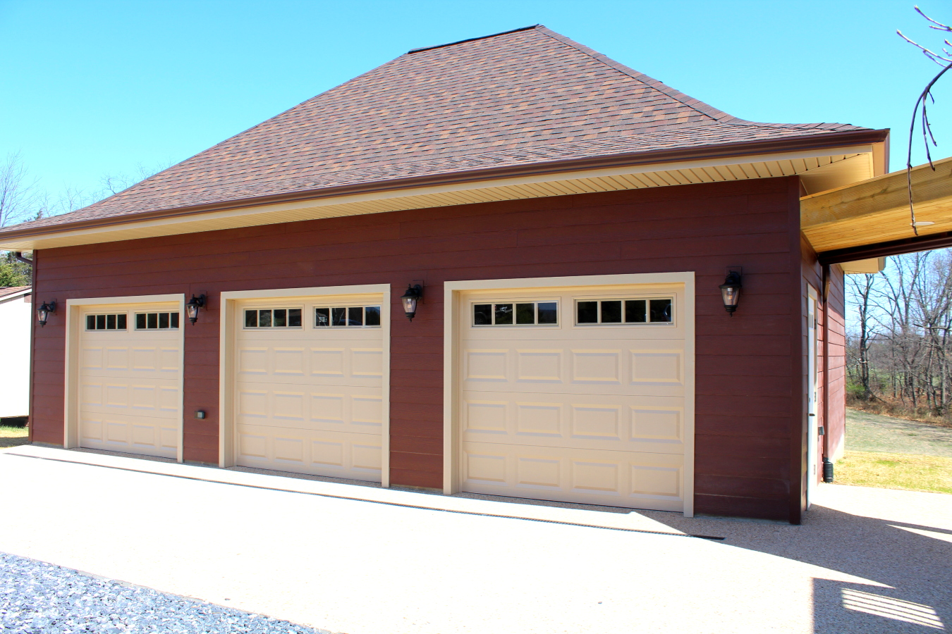 Some Neat Features Of This Project Include An Upper E In The Garage Photos Below And Covered Walkway From To Patio Area Under